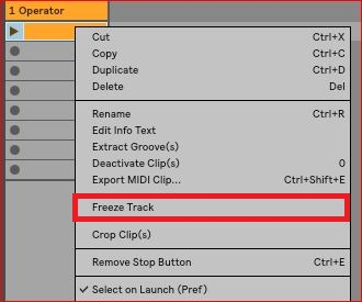 Reducing the CPU load – Ableton