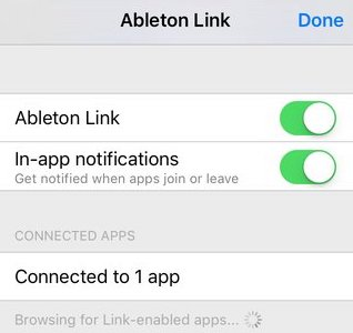 Link - linking devices and apps – Ableton