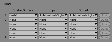 Using Control Surfaces – Ableton