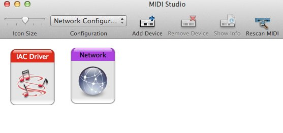 Sending and receiving MIDI messages using a virtual MIDI network