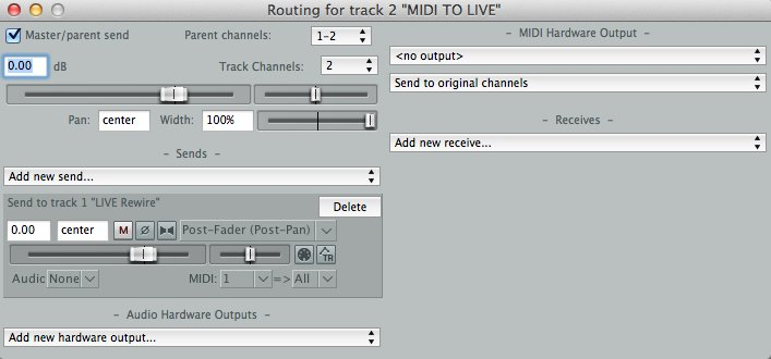 How to enable ReWire in other DAW's – Ableton