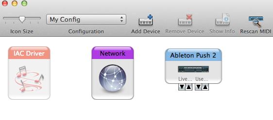 OS X Audio MIDI setup