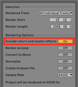 Importing and exporting stems – Ableton