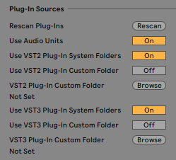 Using AU and VST plug-ins on Mac – Ableton