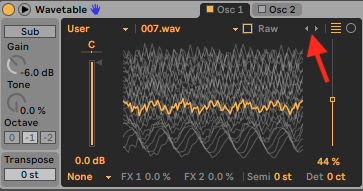 User Wavetables – Ableton