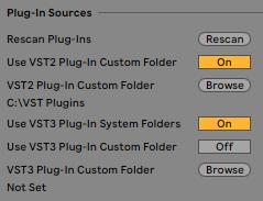 Using VST plug-ins on Windows – Ableton