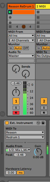 Using Live with ReWire – Ableton